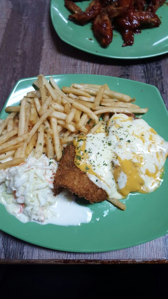 Peachy's Cheesy Fish and Chips