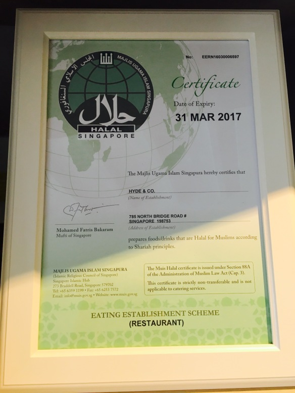 Hyde & Co - Halal cert