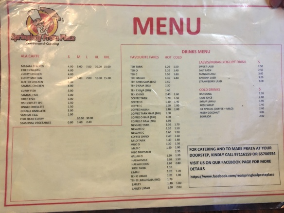 Springleaf Prata Place - Menu 2
