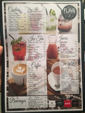Flava Bistro - Drinks Menu