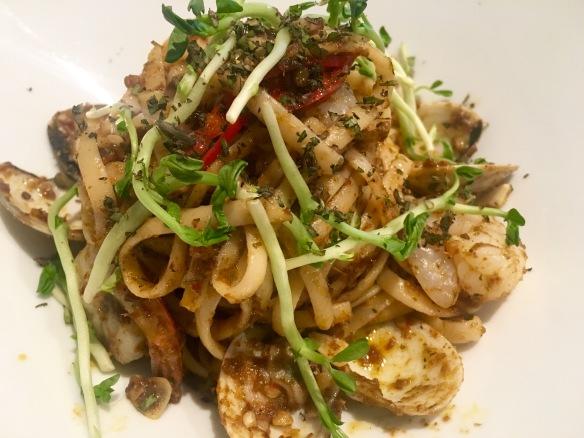 Flava Bistro - Seafood Laksa Pesto Pasta