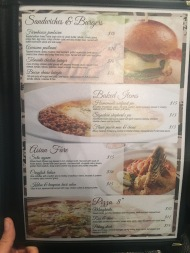 Flava Bistro Lunch Menu - burgers