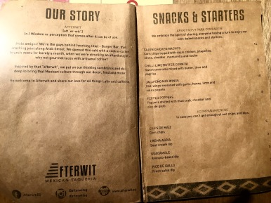 Afterwit SG - Snacks & Starters Menu