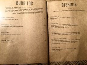 Afterwit SG - Burritos & Dessert Menu