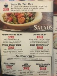 Kaw Kaw SG - Salads Menu