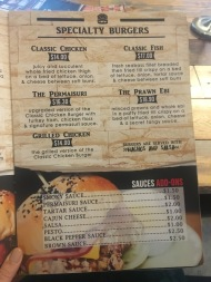 Kaw Kaw SG - Specialty Burgers Menu 2