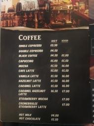 Kaw Kaw SG - Coffee Menu