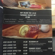 Kaw Kaw SG - Tea Drinks Menu