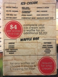 Kaw Kaw SG - Ice cream waffles menu