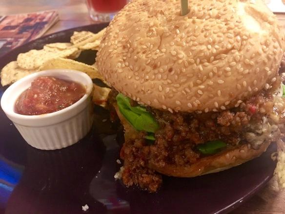 Kaw Kaw SG - Spicy Bolo Burger