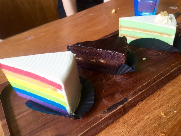 Fix Cafe - Rainbow Chocolate Banana Ondeh-ondeh Cakes