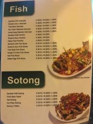 New Hawa - Fish Sotong menu