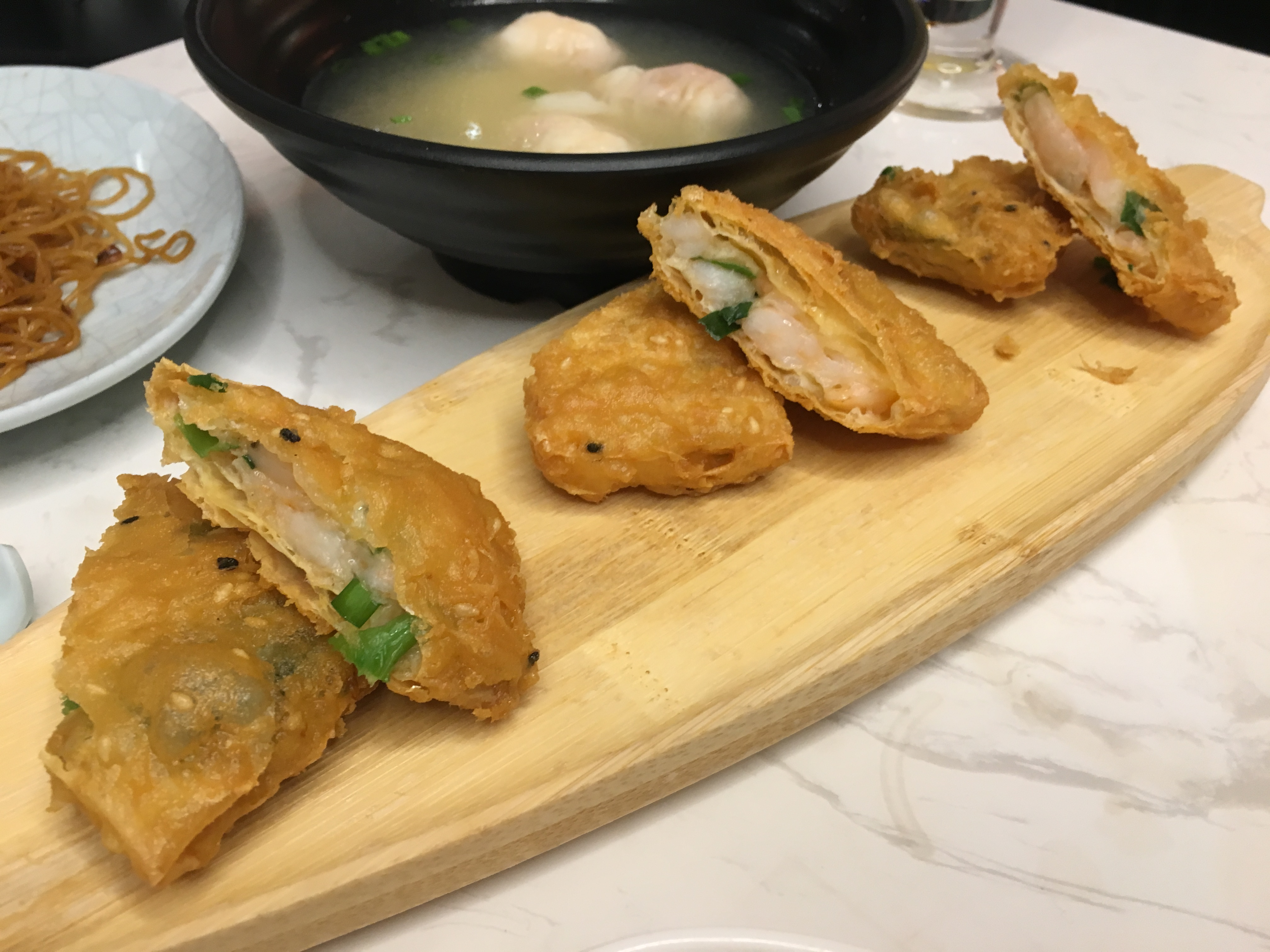 The Dim Sum Place - Fried Beancurd Skin with Prawn and Fish Paste