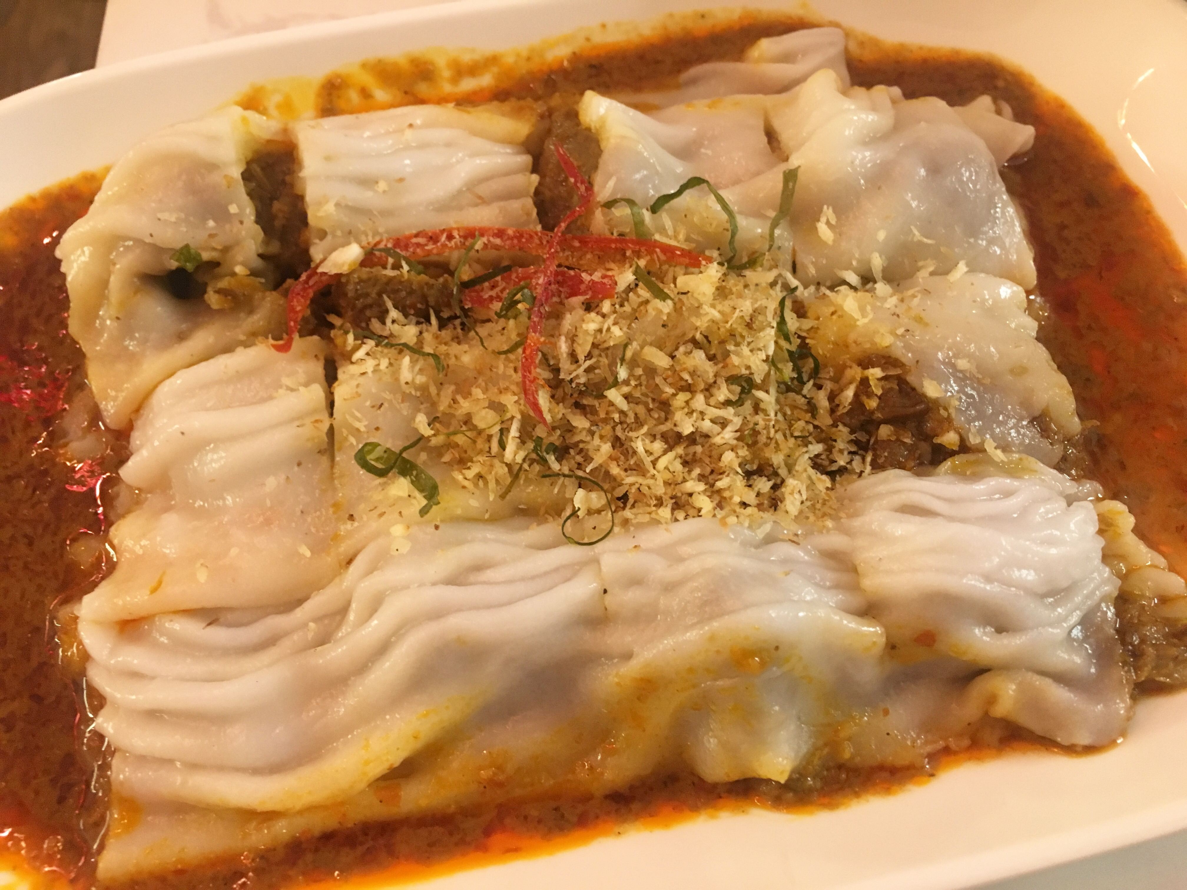 The Dim Sum Place - Vermicelli Roll with Beef Rendang